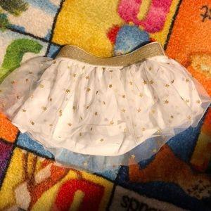 Euc 12 month okie dokie gold star skirt